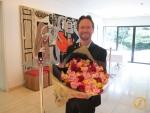 Feier an der Schweizerischen Botschaft in Tokyo nach dem Projekt zu Fuss durch Japan.