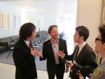 Im Gespräch mit Takuya Oohashi, Jan Knüsel und Stefan Knüsel.