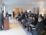 Während meinem Vortrag über das Projekt zu Fuss durch Japan.